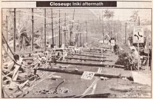 Hurricane ʻIniki Aftermath, Credit: Honolulu Advertiser